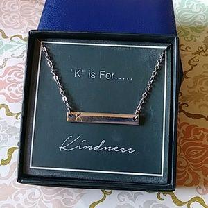 """Jewelry - 🌸3/$10🌸 NWT Silver """"K"""" necklace"""
